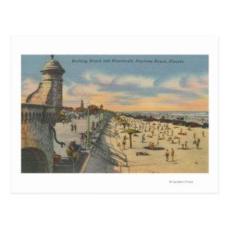 Daytona Beach, FL - Boardwalk View of Beach Postcard