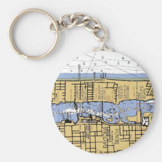 Daytona Beach FL Nautical Chart Keychain