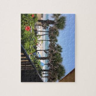 Daytona Beach, FL See the beach through the trees! Jigsaw Puzzle