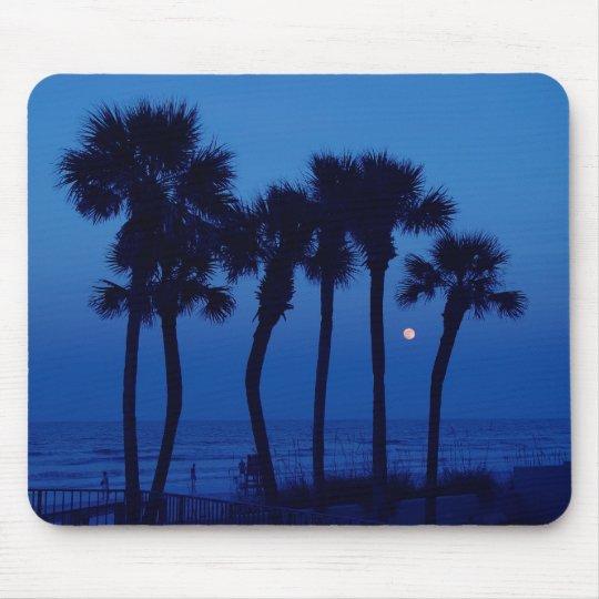 Daytona Beach FL Tropical Palm Tree Moon Mousepad