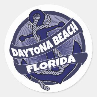 Daytona Beach Florida anchor swirl stickers