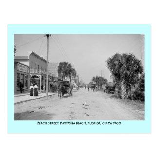 Daytona Beach Florida circa 1900 street scene Postcard