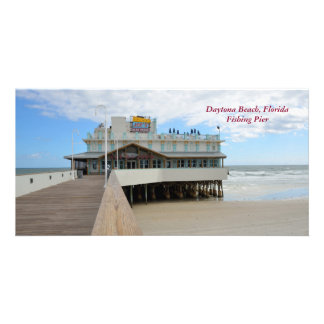 Daytona Beach, Florida Fishing Pier photo card