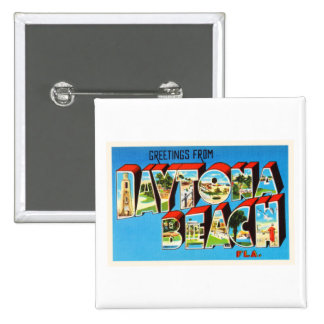 Daytona Beach Florida FL Vintage Travel Souvenir Button