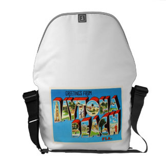 Daytona Beach Florida FL Vintage Travel Souvenir Courier Bag