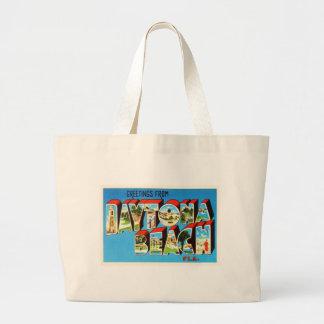 Daytona Beach Florida FL Vintage Travel Souvenir Large Tote Bag