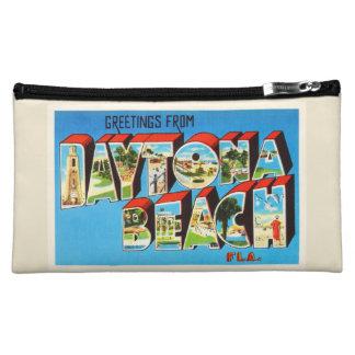 Daytona Beach Florida FL Vintage Travel Souvenir Makeup Bag