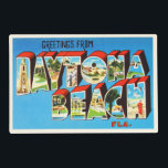 "Daytona Beach Florida FL Vintage Travel Souvenir Placemat<br><div class=""desc"">Daytona Beach,  Florida FL