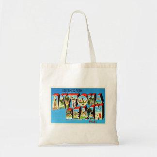 Daytona Beach Florida FL Vintage Travel Souvenir Tote Bag