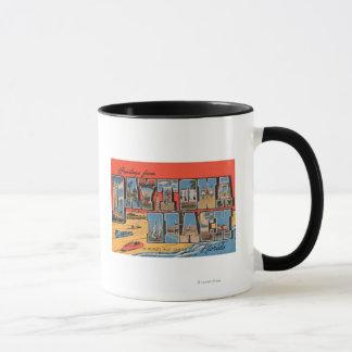Daytona Beach, Florida - Large Letter Scenes Mug