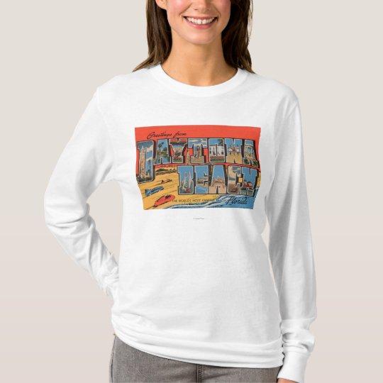 Daytona Beach, Florida - Large Letter Scenes T-Shirt
