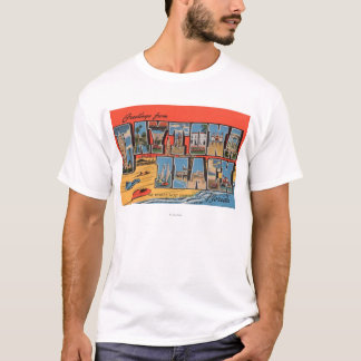 Daytona Beach, Florida - Large Letter Scenes T-Shirt