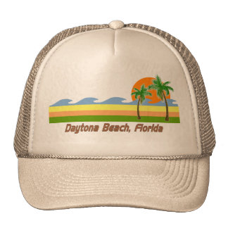 Daytona Beach Florida RETRO Tshirt Trucker Hat