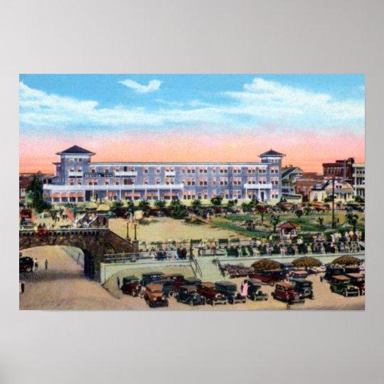 Daytona Beach Florida Seaside Hotel and Boardwalk Poster