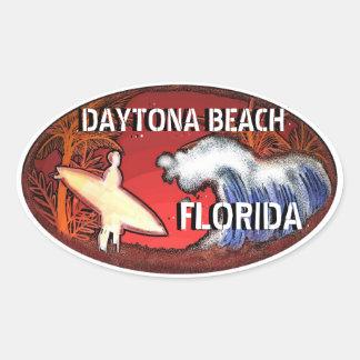 Daytona Beach Florida surf art stickers