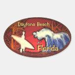 Daytona Beach Florida surfer waves stickers
