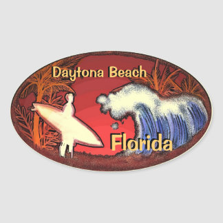 Daytona Beach Florida surfer waves stickers