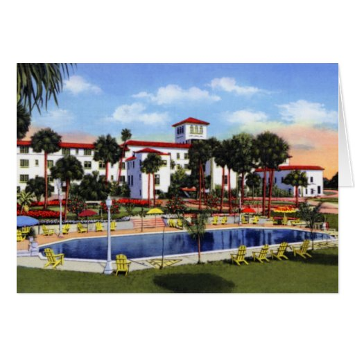 Daytona Beach Florida The Riviera Hotel Card
