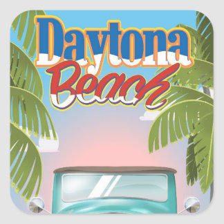 Daytona Beach, Florida USA vintage travel poster Square Sticker