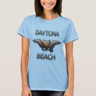 Daytona Beach Flying Devil Heart tattoo style brnz T-Shirt