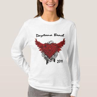 Daytona Beach Flying Red Heart 2011 T-Shirt