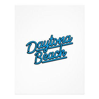 Daytona Beach in cyan Letterhead Design