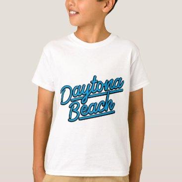 Beach Themed Daytona Beach in cyan T-Shirt