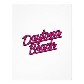 Daytona Beach in magenta Personalized Letterhead
