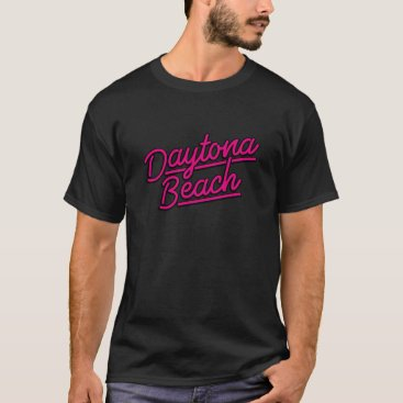 Beach Themed Daytona Beach in magenta T-Shirt