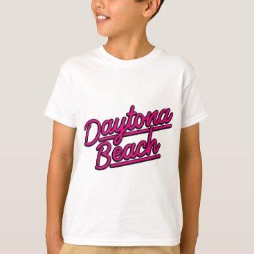 Beach Themed Daytona Beach in magenta T-Shirt
