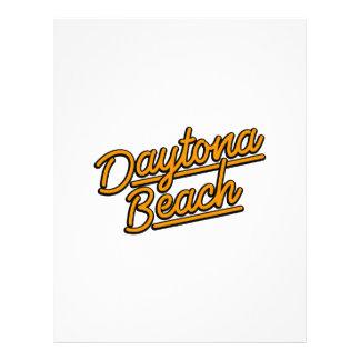 Daytona Beach in orange Custom Letterhead