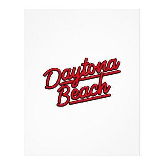 Daytona Beach in red Letterhead Template
