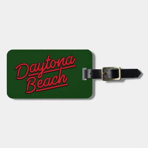 Daytona Beach in red Tags For Luggage