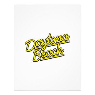 Daytona Beach in yellow Letterhead