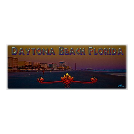 Daytona Beach la Florida en el arte panorámico de  Impresiones
