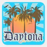 Daytona Beach la Florida los E.E.U.U. Pegatina Cuadrada