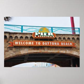 Daytona Beach Main Pier Boardwalk Bridge Poster