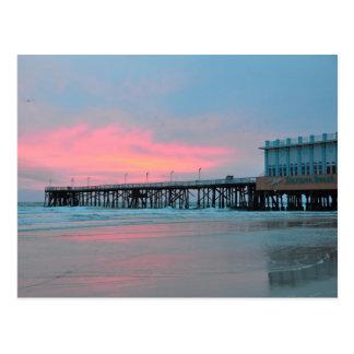 Daytona Beach Main Street Pier Sunrise Postcard