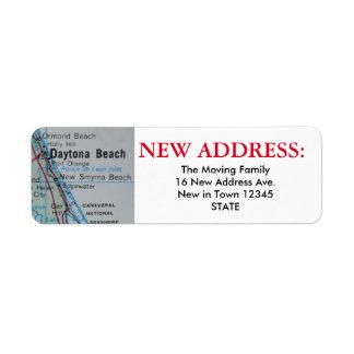 Daytona Beach New Address Label
