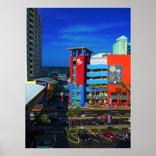 Daytona Beach Ocean Walk Bandshell & Atlantic Art Poster