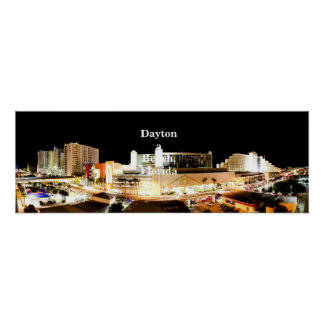 Daytona Beach Panorama Poster