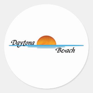 Daytona Beach Pegatina Redonda