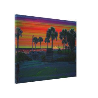 Daytona Beach Pier From Bandshell Gradient Design Canvas Print