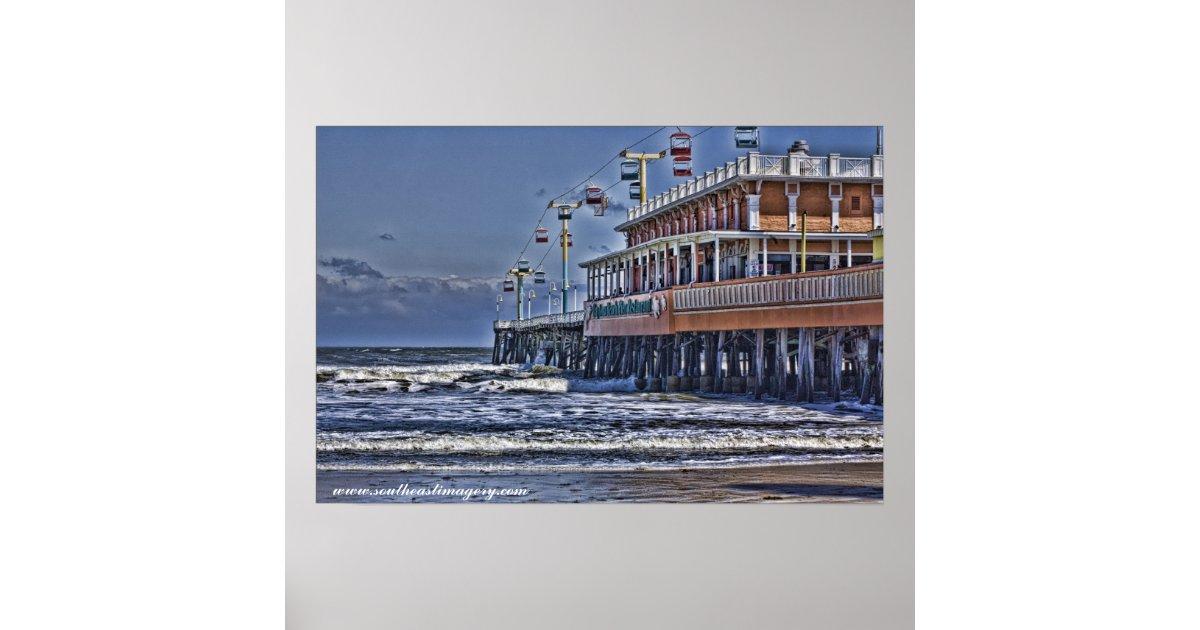 Daytona Beach Pier Poster Zazzle Com