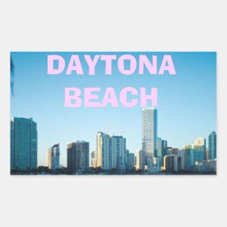 DAYTONA BEACH RECTANGULAR STICKER