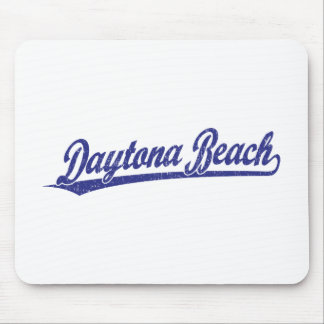 Daytona Beach script logo in blue Mouse Pad