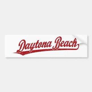 Daytona Beach script logo in red Bumper Sticker