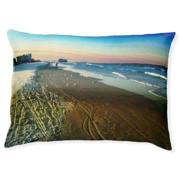 Beach Themed Daytona Beach Shoreline and Boardwalk Pet Bed