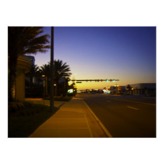 Daytona Beach Shores at Sunrise at Atlantic Avenue Poster