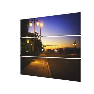 Daytona Beach Shores at Sunrise in Front of Ocean Canvas Print